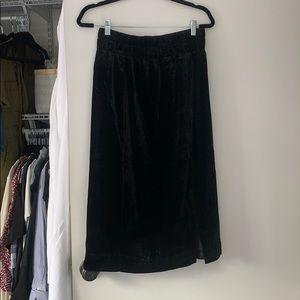 Jcrew Velvet Midi Skirt NWT